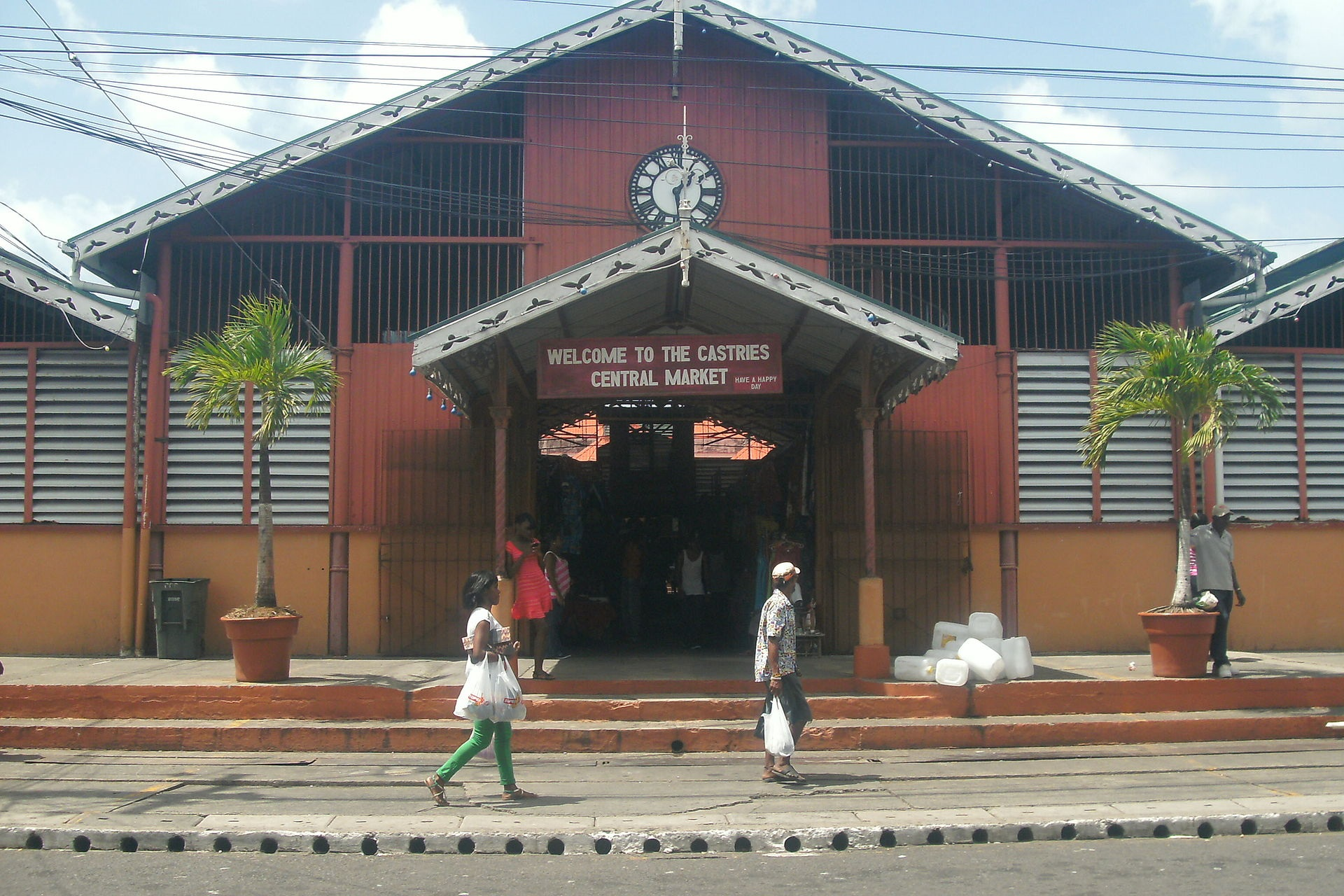 Castries Market in St Lucia