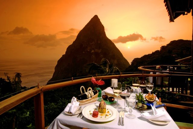 Dasheen restaurant in st lucia