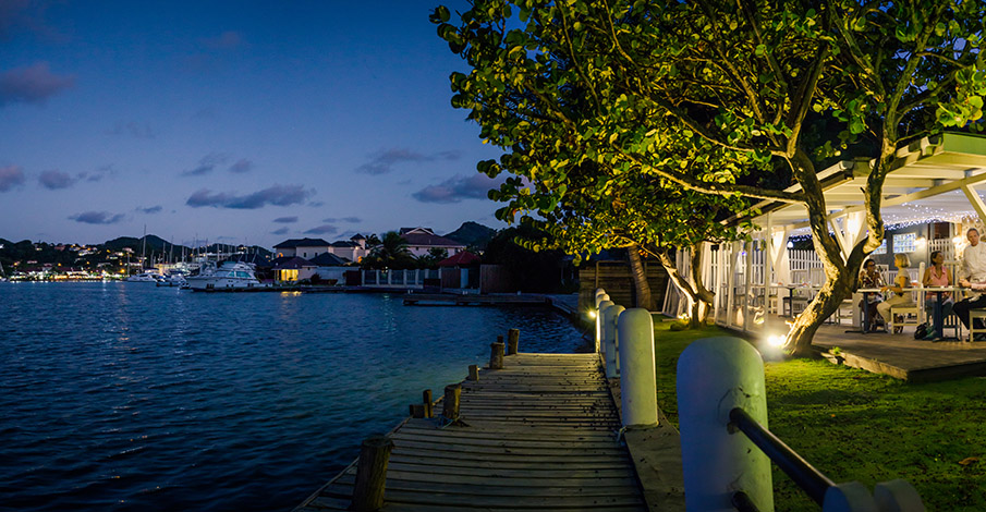jacques Waterfront dining in St Lucia