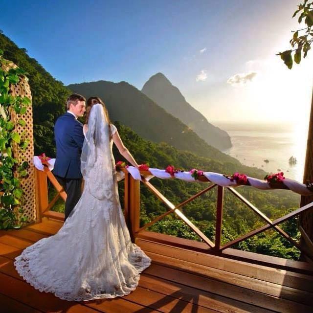 Ladera wedding resort in St Lucia