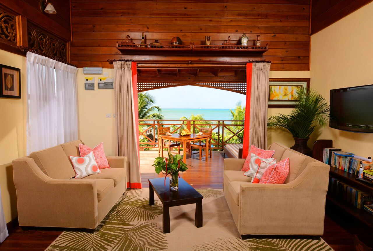 Water sedge Cottage with pool st the Calabash Cove Resort and Spa in St. Lucia. v