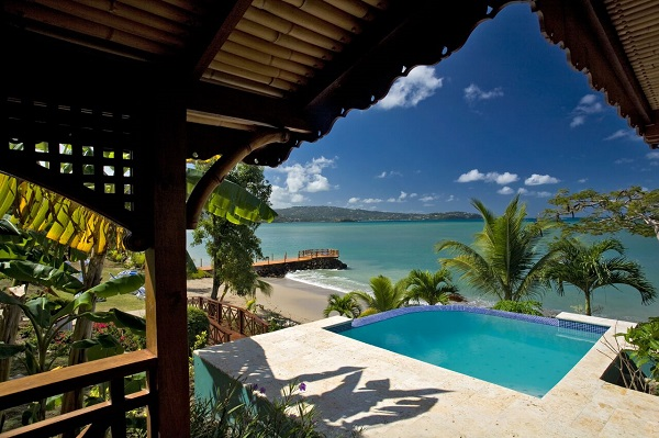 Water sedge cottage with pool - Calabash Cove. Calabash Cove Resort and Spa Hotel in St. Lucia- Adults Only Resort. All inclusive resorts in St Lucia, Places to stay in St Lucia. Adult only resorts in St Lucia.