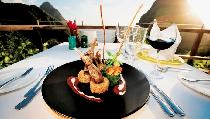 the dasheen dinning experience at the Ladera Resort in St Lucia. Ladera resort in St Lucia. ladera villa in st lucia. paradise ridge at ladera resort in st lucia. Book your vacation at the ladera resort in st lucia. All inclusive vacation in st lucia.