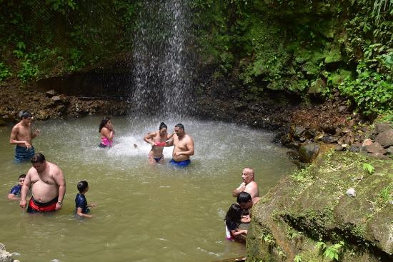 Toraille waterfalls St.Lucia pic
