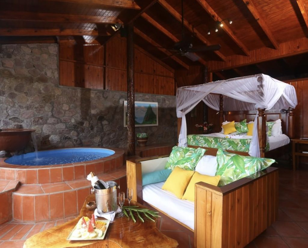 Ladera resort near the pitons St.Lucia