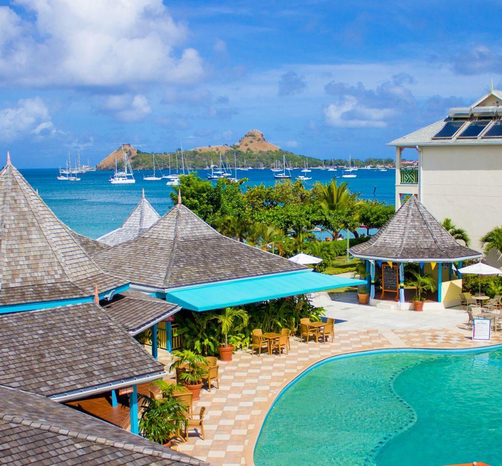 Rodney bay in St. Lucia
